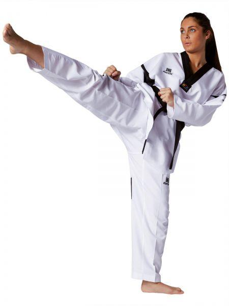 KWON Taekwondo Dobok für Damen Revolution Black Mesh (WT)  2