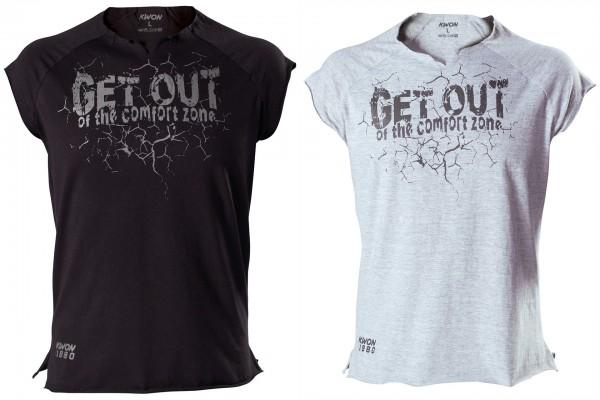KWON T-Shirt Get out (grau & schwarz)