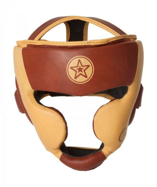 Kopfschutz Heritage aus Leder von Top Ten Frontansicht