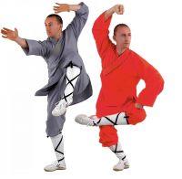 Shaolin Kung Fu Anzug orange und grau