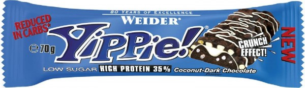 Joe Weider Yippie! Bar, 12 x 70 g Riegel