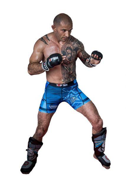 MMA Kompressionsshorts Mohicans von Top Ten Frontansicht 1