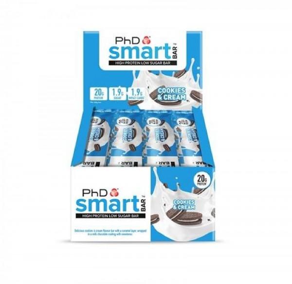 PhD Supplements Smart Bar, 12 x 64 g Riegel