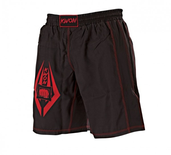 Schwarz-rote KWON Freefight Shorts 1