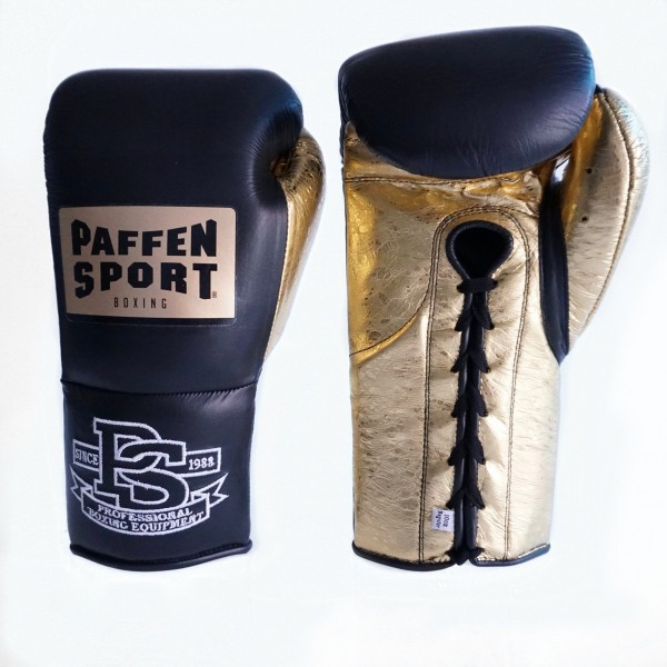 PAFFEN SPORT SPECIAL EDITION PRO MEXICAN Boxhandschuhe Schwarz / Metallic Sprinkle Gold