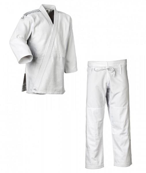 "Adidas Judo-Anzug ""Contest"" weiß/silberne Streifen, J650"