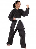 Schwarzer KWON CLUBLINE Shadow Ju-Jutsu Anzug für Frauen 8oz