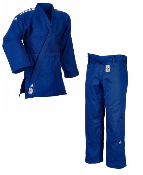 """adidas Judoanzug """"CHAMPION II"""" IJF slim cut, blau/weiße Streifen, JIJFBS"""