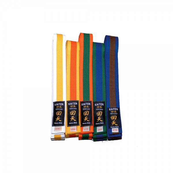 KAITEN Farbgurte 2-farbig Budogürtel