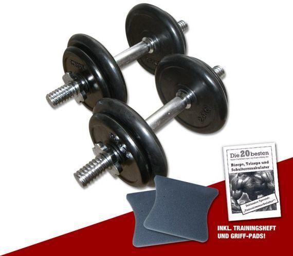 Ironsports Gummi Kurzhantelset, 2 x 10 kg