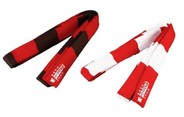 Ju-Sports Gürtel rot/weiß 8.DAN