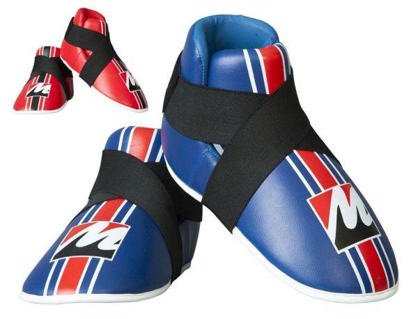 Fußschutz Protector von Manus in Rot und Blau Frontansicht