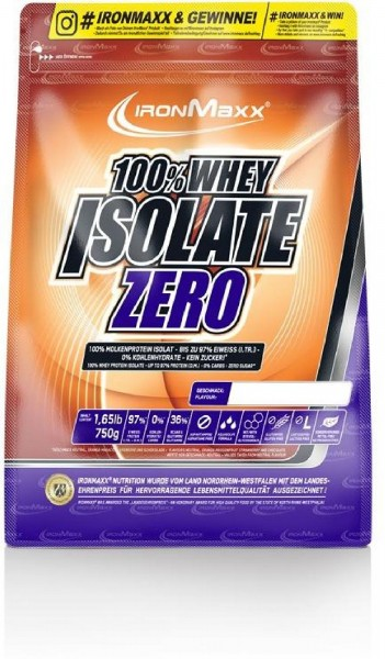 IronMaxx 100% Whey Isolate Zero, 750 g Beutel