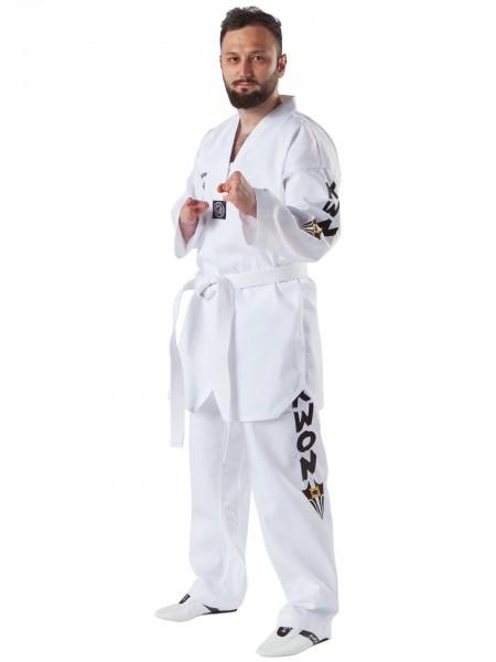 KWON Starfighter Plus Taekwondoanzug mit weißem revers