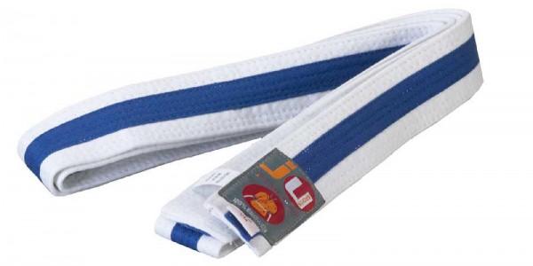 Ju-Sports Budogürtel weiß/blau/weiß