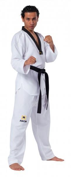 KWON TKD Anzug Fightlite mit schwarzes Revers - World Taekwondo (WT) Anerkennung