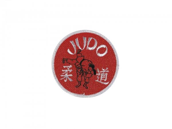 Aufnäher / Stickabzeichen Judo rot