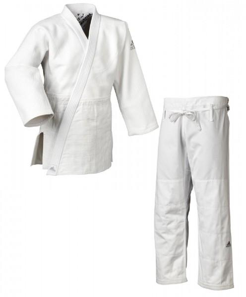 "adidas Judo-Anzug ""Millenium"" weiß/silbernes Logo, J990"
