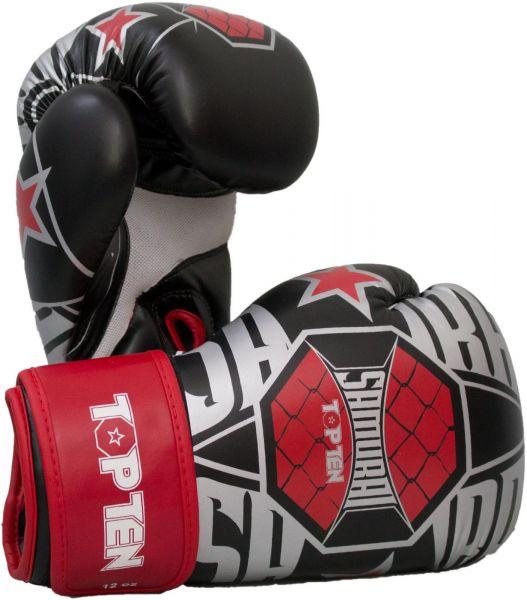 Boxhandschuhe Samurai XLP von Top Ten in Schwarz-Rot-Weiß 1