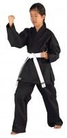 Schwarzer KWON CLUBLINE Ju-Jutsu Anzug für Kinder Shadow 8oz