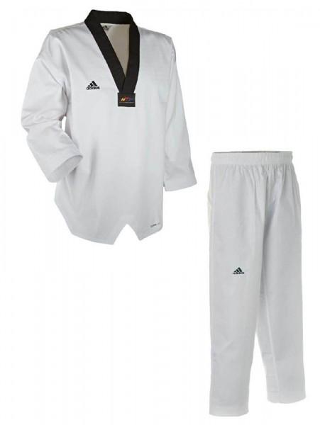 Adidas Taekwondoanzug, Adichamp III,schwarzes Revers