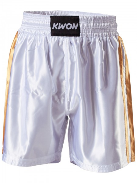KWON Box-Shorts weiß / gold (KWON PROFESSIONAL BOXING)