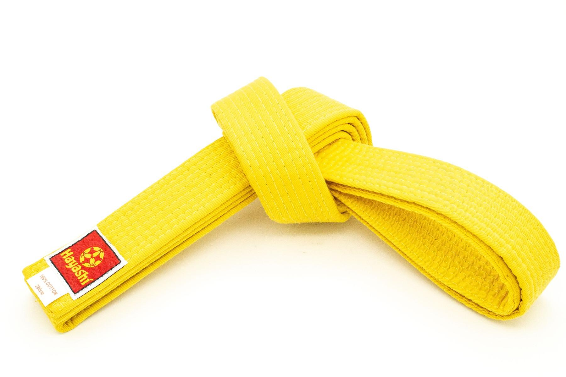 280cm Hayashi Budogürtel zweifarbig ORANGE GELB Judo Karate Taekwondo Ju Jutsu