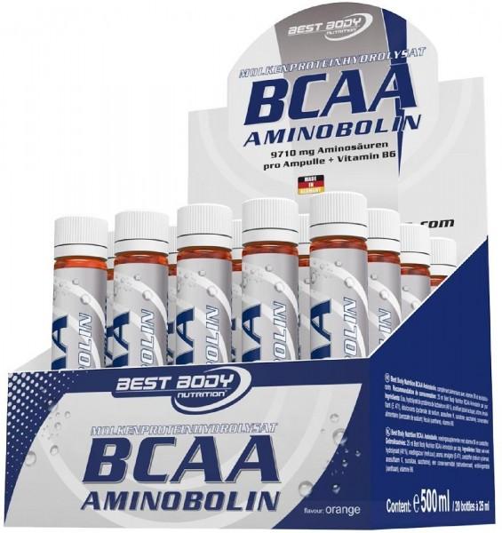 Best Body Nutrition BCAA Aminobolin, 20 x 25 ml Ampullen