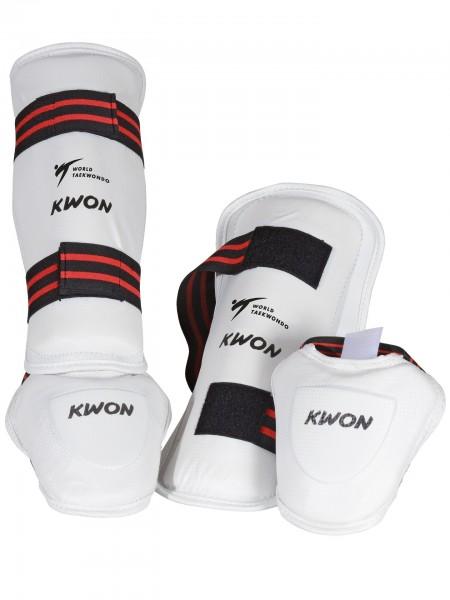 Weißer Schienbein- und Spannschutz von KWON