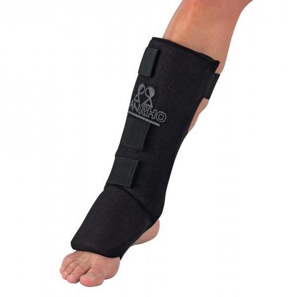 Schwarzer Spann- und Schienbeinschutz Lightweight von Danrho