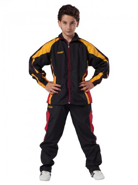 schwarz-rot-gelber KWON Trainingsanzug Performance Micro für Kinder 1