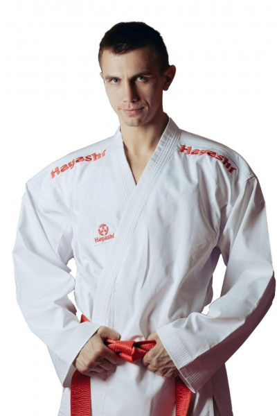 HAYASHI 8oz Kumite Karateanzug Champion Flexz K1 Rot mit WKF-Zulassung
