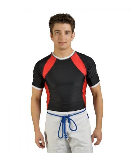 Ju-Sports Rash Guard kurzarm schwarz/rot/weiß