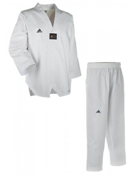 Adidas Taekwondoanzug, Adichamp III,weißes Revers