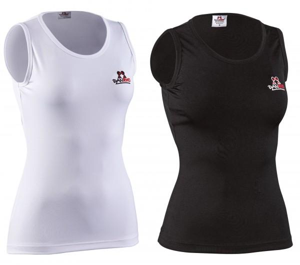 Schwarzes und weißes Rash guard Top für Damen von Danrho