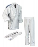 """ADIDAS Judo """"Club"""" weiß, blaue Streifen"""