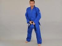 Judoanzug MATSURU Judo IJF 2015 MONDIAL Slim Fit blau