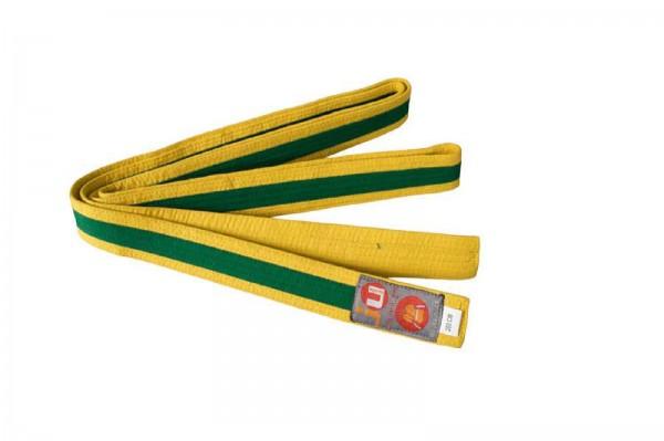 Ju-Sports Budogürtel gelb/grün/gelb