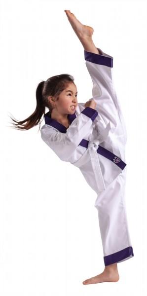 Lila DRACHENKRALLE Karateanzug für Mädchen