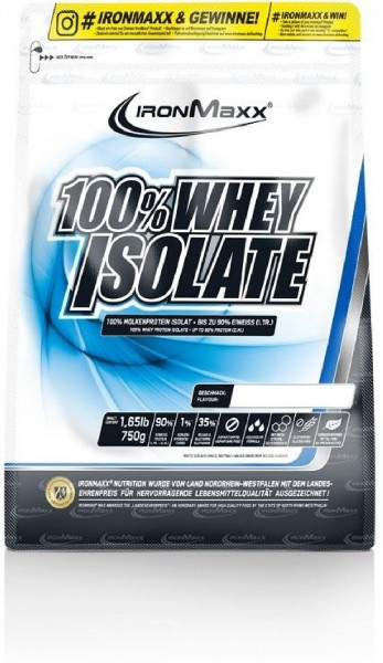 IronMaxx 100% Whey Isolate, 750 g Beutel