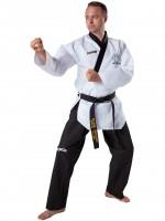 KWON Poomsae Taekwondo Anzug Grand für Herren mit schwarzes Revers - WT-Zulassung