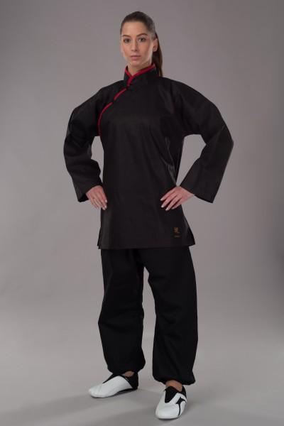 Phoenix Kung Fu Jacke mit roten Applikationen 100% Baumwolle 1