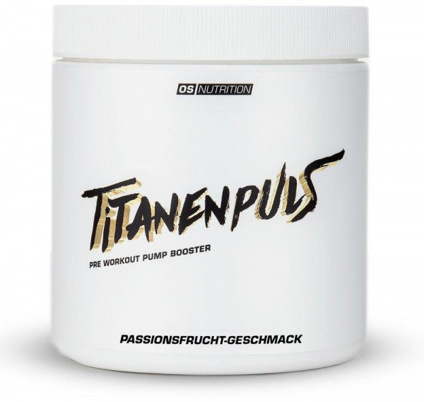 OS NUTRITION Titanenpuls - Pre Workout Pump Booster, 400g Dose, Passionsfrucht