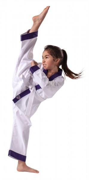 Lila DRACHENKRALLE Ju-Jutsu Anzug für Mädchen