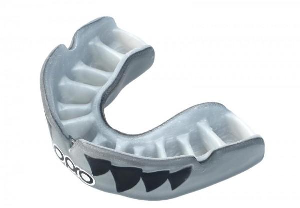 Ju-Sports OPRO Zahnschutz PowerFit Aggression- Jaws Silver/White