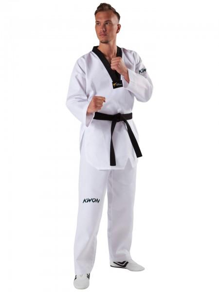 KWON Starfighter Taekwondoanzug - schwarzem Revers (WT)