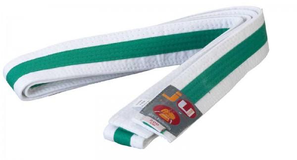 Ju-Sports Budogürtel weiß/grün/weiß