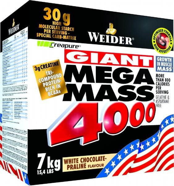 Joe Weider Mega Mass 4000, 7000 g Karton
