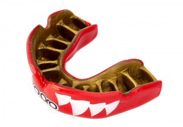 Ju-Sports OPRO Zahnschutz PowerFit Aggression- Jaws Red/Gold