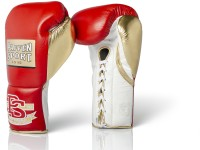 PAFFEN SPORT PRO MEXICAN Boxhandschuhe für den Wettkampf 8UZ & 10UZ Rot/Gold